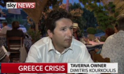 Creecce Crisis interview on Sky news